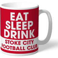 Personalised Stoke City FC Eat Sleep Drink Mug