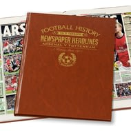 Personalised Arsenal V Spurs Derby Football Newspaper Book - Leatherette Cover