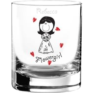 Personalised Graffiti Wedding Character Juice Glass