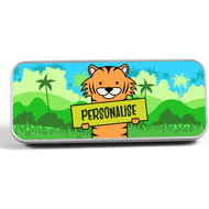 Personalised Kids Tiger Pencil Tin