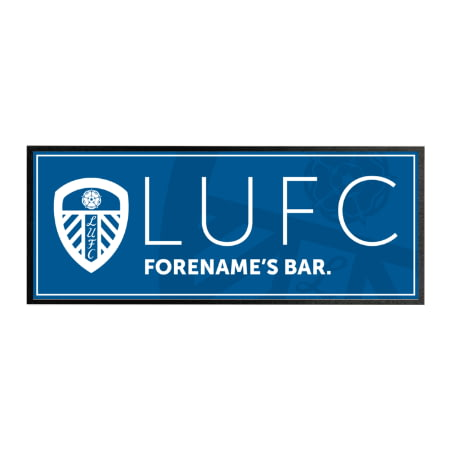 Personalised Leeds United FC Crest Rubber Bar Runner