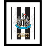 Personalised Newcastle United FC Bold Crest Framed Print