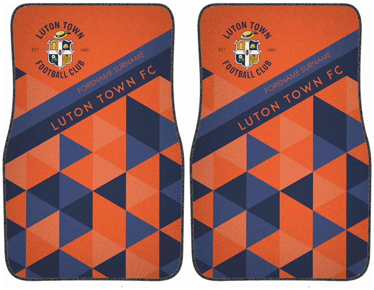 Personalised Car Mats REAR - PATTERNED Luton Town F.C