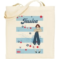 Personalised Riviera Stripe Tote Bag