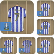 Personalised Sheffield Wednesday FC Dressing Room Shirts Coasters Set of 6