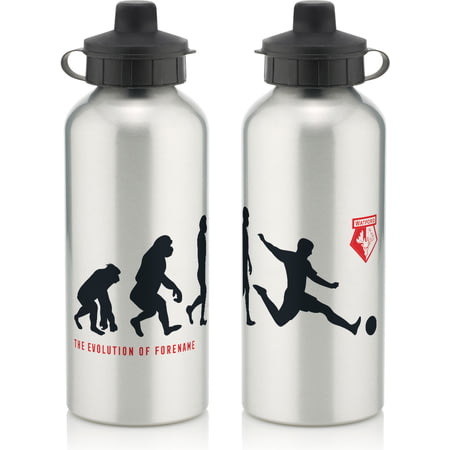 Personalised Watford Player Evolution Aluminium Sports Water Bottle