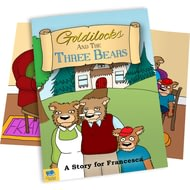 Personalised Goldilocks & The Three Bears Childrens Story Book
