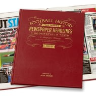 Personalised Huddersfield Town Football Newspaper Book - Leather Cover