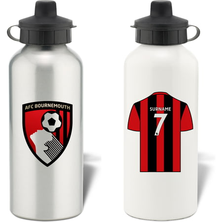 Personalised AFC Bournemouth Shirt Aluminium Sports Water Bottle