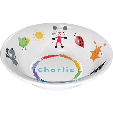 Personalised Arty Mouse Scatter Character Bowl
