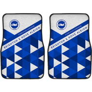 Personalised Brighton & Hove Albion FC Patterned Front Car Mats