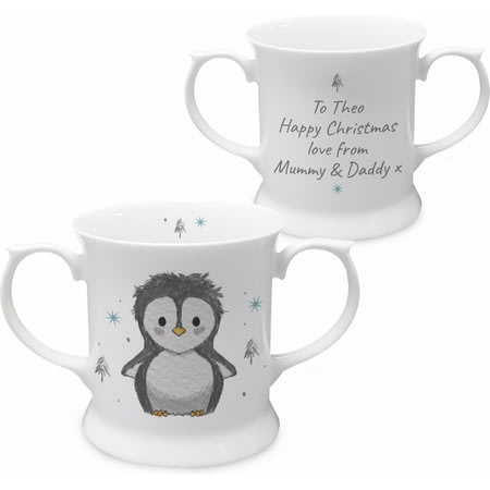 Personalised Pebbles The Penguin Loving Cup