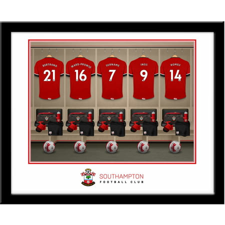 Personalised Southampton FC Dressing Room Shirts Framed Print