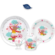 Personalised Upsy Daisy Ceramic 4 Piece Breakfast Set