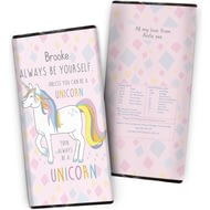 Personalised Always Be A Unicorn Chocolate Bar