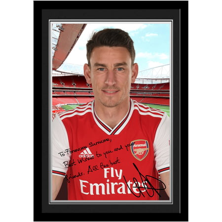 Personalised Arsenal FC Koscielny Autograph Photo Framed