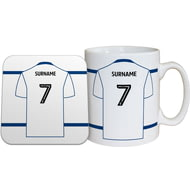 Personalised Bolton Wanderers FC Shirt Mug & Coaster Set