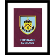 Personalised Burnley FC Bold Crest Framed Print