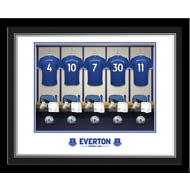 Personalised Everton FC Dressing Room Shirts Photo Framed