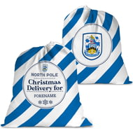 Personalised Huddersfield Town AFC Christmas Delivery Santa Sack