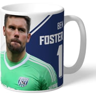 Personalised West Bromwich Albion FC Foster Autograph Mug