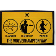 Personalised Wolves Way Rubber Backed Door Mat