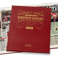 Personalised Charlton Athletic Football Newspaper Book - Leather Cover