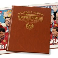 Personalised Manchester United Football Newspaper Book - Leatherette Cover