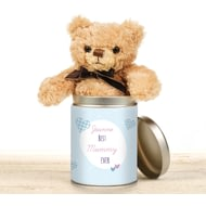 Personalised Best Ever Gingham Teddy In The Tin