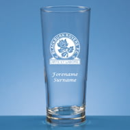 Personalised Blackburn Rovers FC Crest Beer Pint Glass