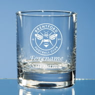 Personalised Brentford FC Crest Whisky Glass