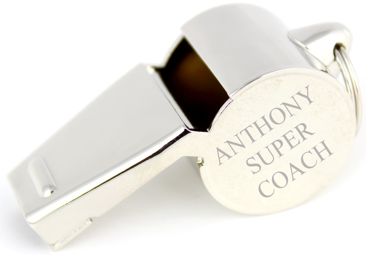 Personalised Engraved Stainless Steel Whistle In Gift Box from Go Find A Gift