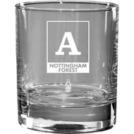 Personalised Nottingham Forest FC Monogram Whisky Glass Tumbler