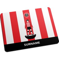 Personalised Sheffield United FC Player Figure Mouse Mat