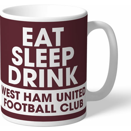 Personalised West Ham United FC Eat Sleep Drink Mug