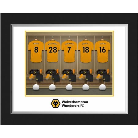 Personalised Wolves FC Dressing Room Shirts Photo Folder