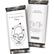 Personalised Chilli And Bubbles Chocolate Bar