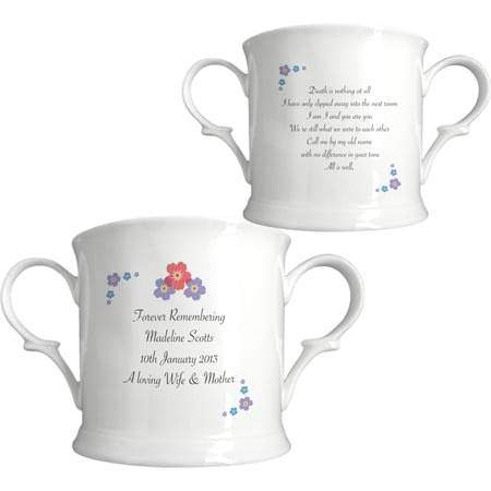 Personalised Forget Me Not Bone China Loving Cup