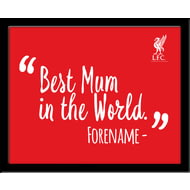 Personalised Liverpool FC Best Mum In The World 10x8 Photo Framed