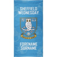Personalised Sheffield Wednesday FC Crest Bath Towel - 70cm X 140cm