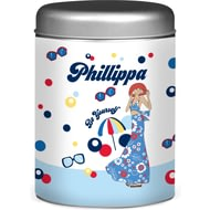Personalised Riviera Beach Coffee Tin