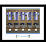 Personalised Sheffield Wednesday FC Dressing Room Shirts Framed Print