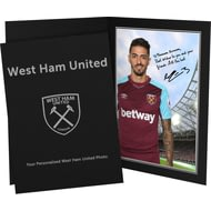 Personalised West Ham United FC Lanzini Autograph Photo Folder