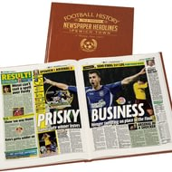 Personalised Ipswich Football Newspaper Book - Leatherette Cover