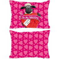 Personalised Shaun The Sheep Valentines 'Be My Valentine' Rectangle Cushion - 45x30cm