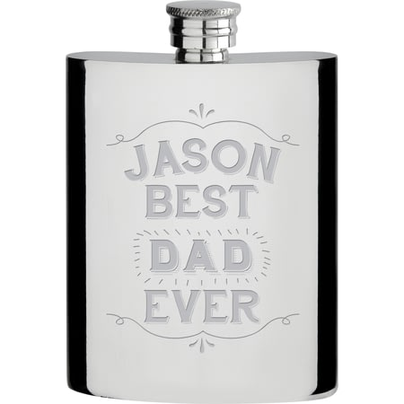 Personalised Best Ever Hipflask