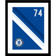 Personalised Chelsea FC Stripe Framed Print