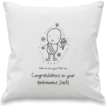 Personalised Chilli & Bubbles Retirement Cushion Cover