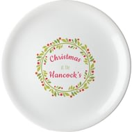 Personalised Contemporary Wreath Large Serving Plate