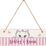 Personalised Peeking Nina Kitten Hanging Sign